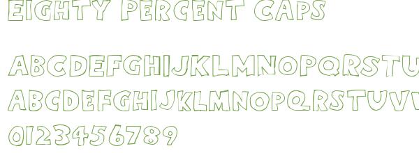Télécharger la police d'écriture Eighty Percent Caps