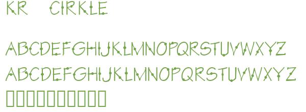 Télécharger la police d'écriture KR Cirkle