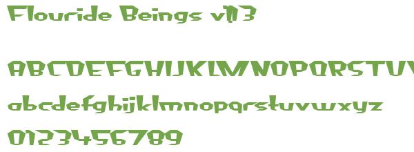 Télécharger la police d'écriture Flouride Beings v1.13