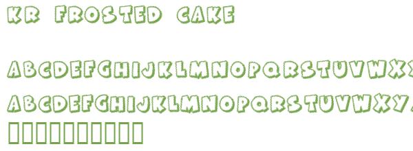 Télécharger la police d'écriture KR Frosted Cake