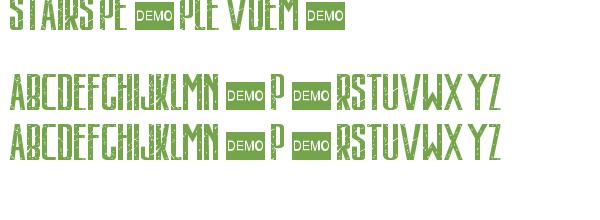 Télécharger la police d'écriture Stairs People vDemo