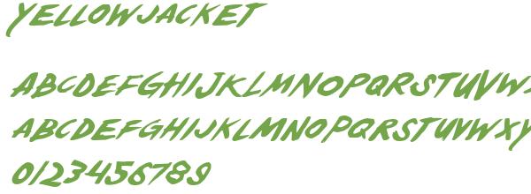 Télécharger la police d'écriture Yellowjacket