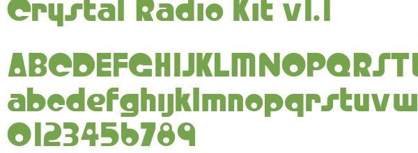 Télécharger la police d'écriture Crystal Radio Kit v1.1