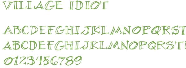Télécharger la police d'écriture Village Idiot