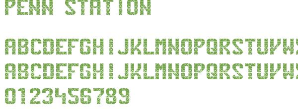 penn station   police d u0026 39  u00e9criture gratuite monospaced - 2500 polices d u0026 39  u00e9critures gratuits