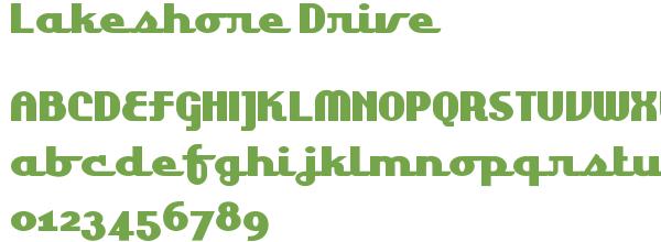 Télécharger la police d'écriture Lakeshore Drive