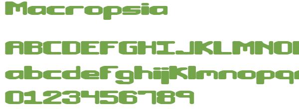 Télécharger la police d'écriture Macropsia
