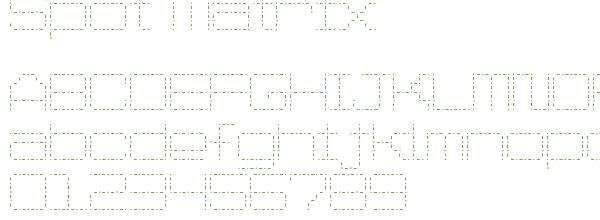 Télécharger la police d'écriture Spot Matrix