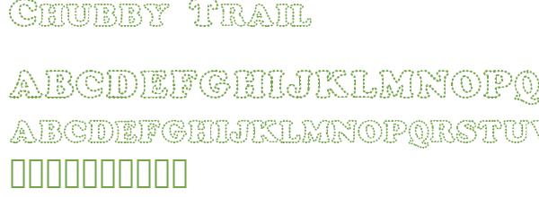 Télécharger la police d'écriture Chubby Trail