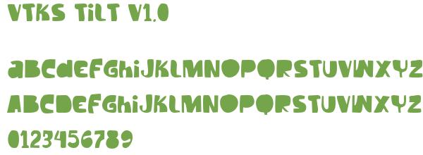 Télécharger la police d'écriture Vtks Tilt v1.0
