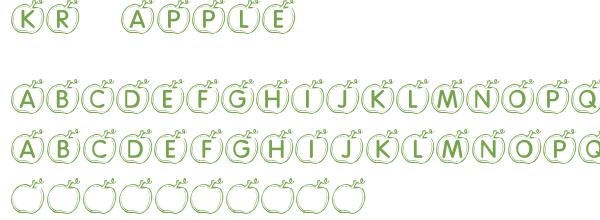 Télécharger la police d'écriture KR Apple