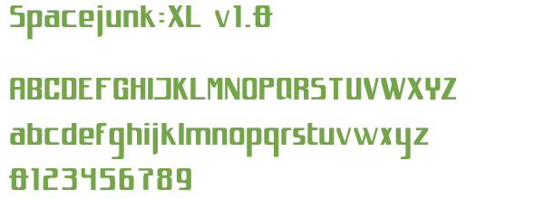 Télécharger la police d'écriture Spacejunk:XL v1.0
