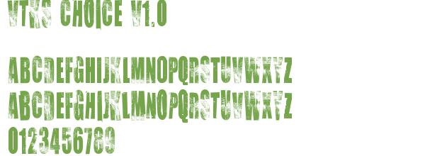 Télécharger la police d'écriture Vtks Choice v1.0