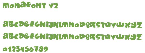 Télécharger la police d'écriture MonaFont v2