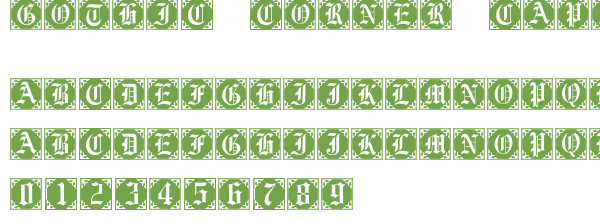 Télécharger la police d'écriture Gothic Corner Caps