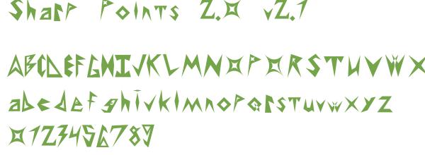 Télécharger la police d'écriture Sharp Points 2.0 v2.1
