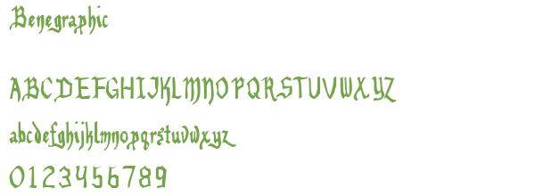 Télécharger la police d'écriture Benegraphic