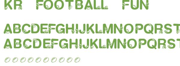 kr football fun   police d u0026 39  u00e9criture gratuite dingfont  letterbat