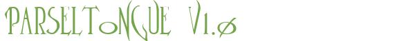 Télécharger la police d'écriture Parseltongue v1.0