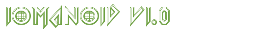 Télécharger la police d'écriture Iomanoid v1.0