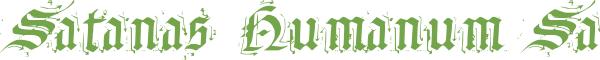Télécharger la police d'écriture Satanas Humanum Salvatore v1.0