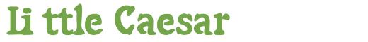 Télécharger la police d'écriture Little Caesar