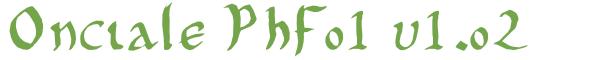 Télécharger la police d'écriture Onciale PhF01 v1.02