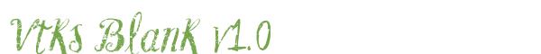 Télécharger la police d'écriture Vtks Blank v1.0