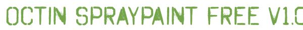 Télécharger la police d'écriture Octin Spraypaint Free v1.0 Pre