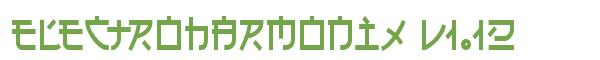 Télécharger la police d'écriture Electroharmonix v1.12
