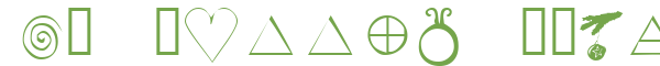 Télécharger la police d'écriture KR Wiccan Symbols