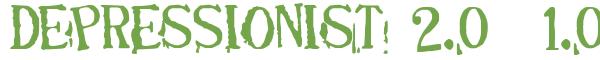 Télécharger la police d'écriture DEPRESSIONIST 2.0 v1.0