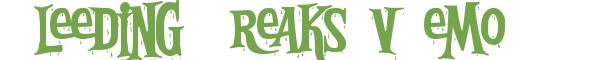 Télécharger la police d'écriture Bleeding Freaks vDemo