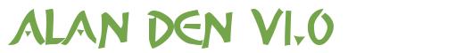 Télécharger la police d'écriture Alan Den v1.0