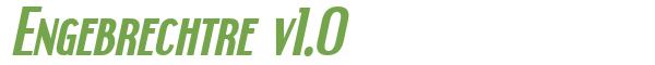 Télécharger la police d'écriture Engebrechtre v1.0