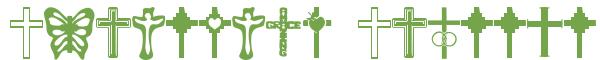 Télécharger la police d'écriture Christian Crosses v1.0