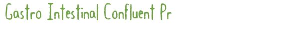 Télécharger la police d'écriture Gastro Intestinal Confluent Pr