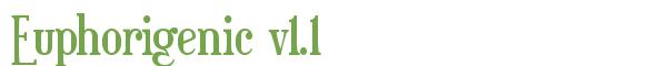 Télécharger la police d'écriture Euphorigenic v1.1