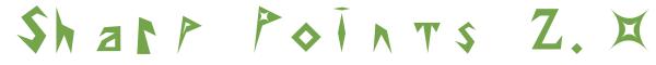 Télécharger la police d'écriture Sharp Points 2.0 v2.0