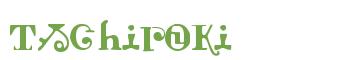 Télécharger la police d'écriture Tschiroki