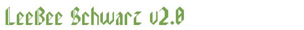 Télécharger la police d'écriture LeeBee Schwarz v2.0